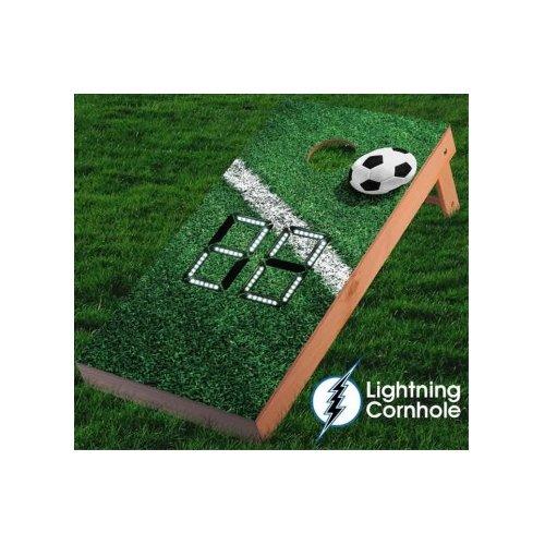 Lightning Cornhole Electronic Scoring Soccer Goal Line Cornhole Board