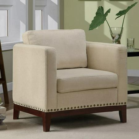 Coaster Upholstered Club Chair In Beige Walmart Com