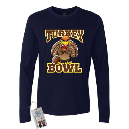 Thanksgiving Turkey Bowl Football Mens Long Sleeve T-Shirt ()