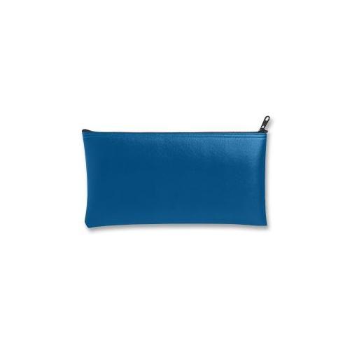 MMF INDUSTRIES Wallet Bags, With Zipper Top, Vinyl, 11x6, Blue