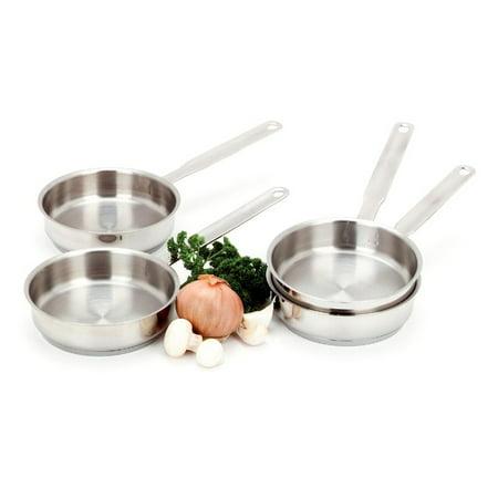 Demeyere Stainless Steel Fry Pan (Demeyere Resto 4-pc Stainless Steel Mini Fry Pan Set )