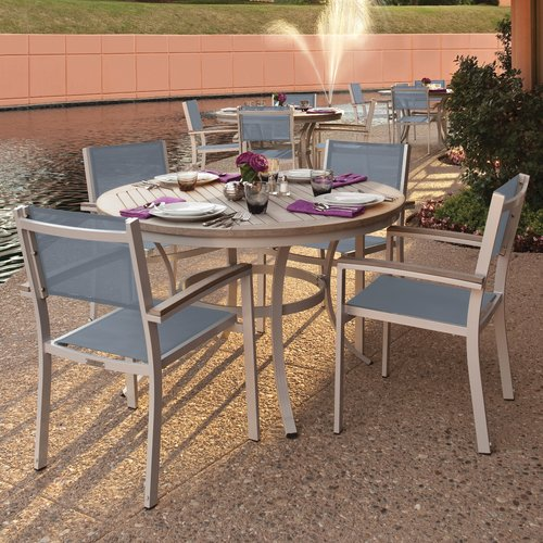 Sol 72 Outdoor Rosenfeld 5 Piece Dining Set with Titanium Sling Back Chairs