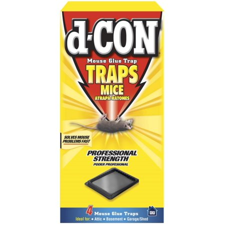 2 Pack - d-CON Glue Tray for Mice, 4 (Articulating Mouse Tray)
