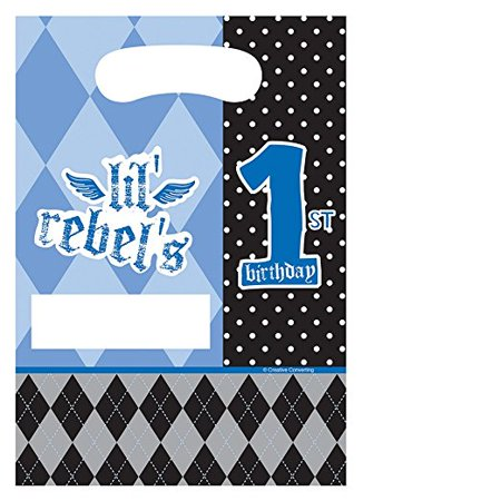 1st Birthday Party Loot Bags - 8-Count Party Loot Bags, Rebel First Birthday