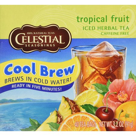 Cool Brew Tropical Fruit Iced Herbal Tea Caffeine Free - 40 Tea Bags, The rich, smooth tastes of two caffeinefree African herbs honeybush and Rooibos.., By Celestial