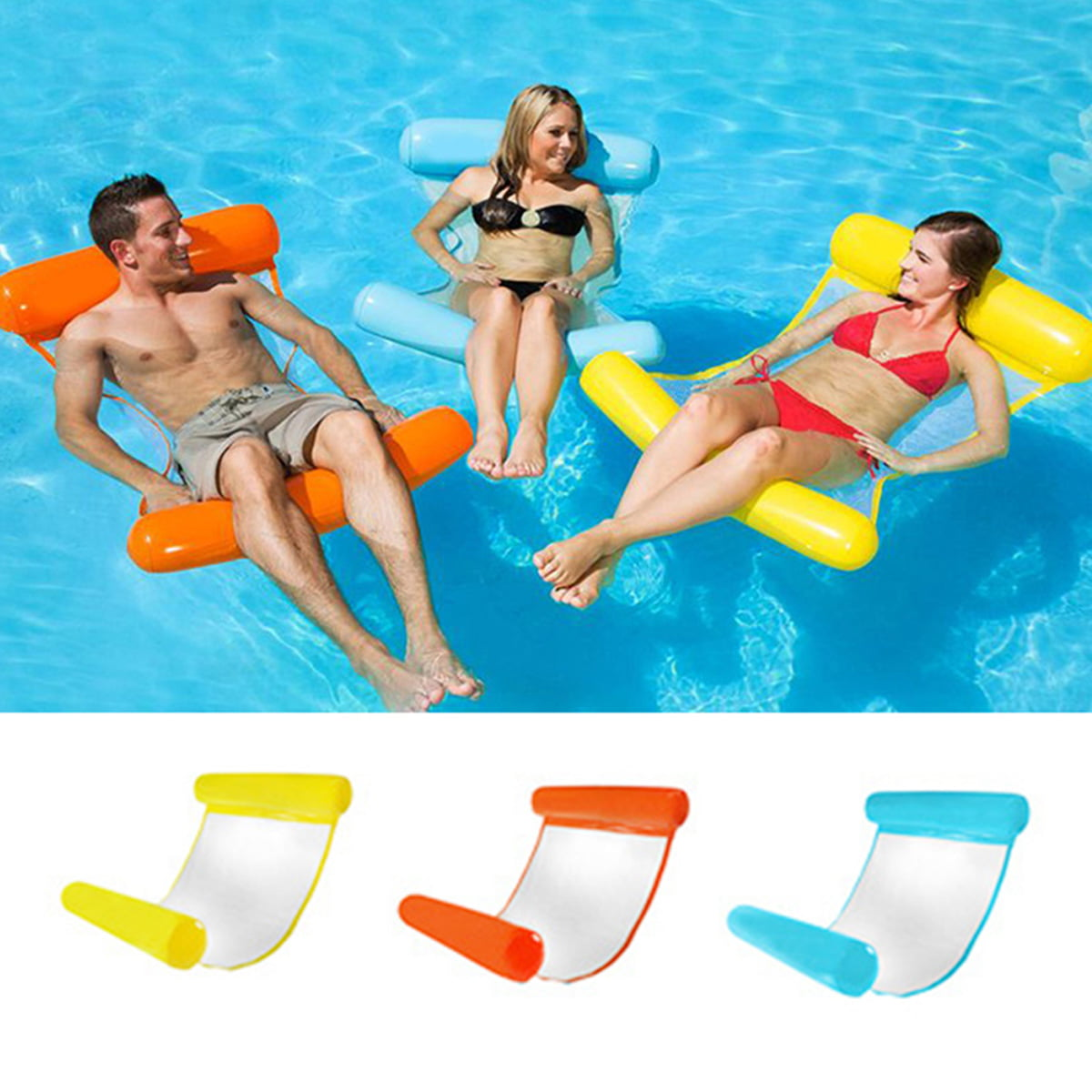 Outdoor Water Hammock Mattress Swimming Pool Inflatable Mat Floating Chair Rafts