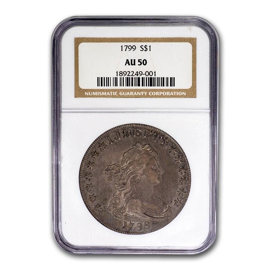 1799 Draped Bust Dollar AU-50 NGC