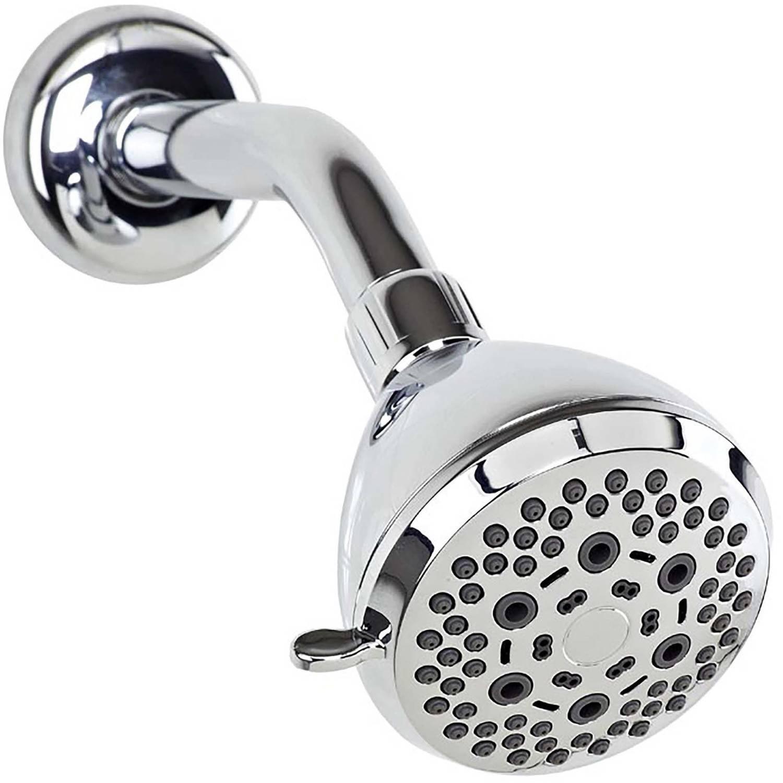 Bath Bliss 6-Function Fixed Shower Head, Chrome - Walmart.com