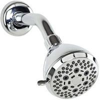Bath Bliss 6-Function Fixed Shower Head, Chrome