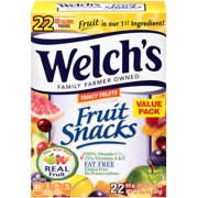 Welch's Fruit Snacks, Tangy Fruits, 0.9 Oz, 22 Ct