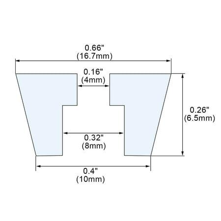 5pcs Rubber Feet Non-slip Leg Pad Anti-scratch Table Protector D16.7x10xH6.5mm - image 2 of 7