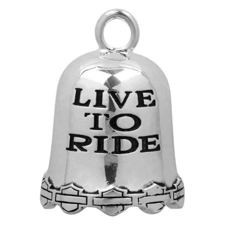 Harley-Davidson Live To Ride, Ride To Live Ride Bell, Durable Zinc HRB028, Harley Davidson
