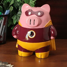 Washington Redskins Piggy Bank Large Stand Up Superhero by Forever Collectibles