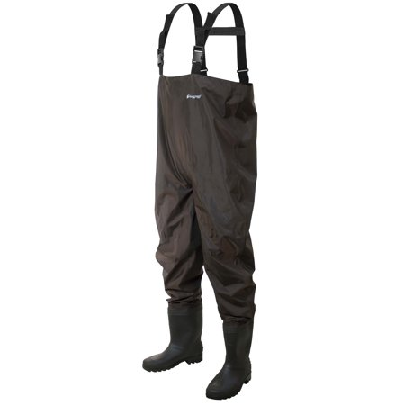 Frogg Toggs Cleated Rana II PVC Chest Fishing Wader, Size 10, Brown