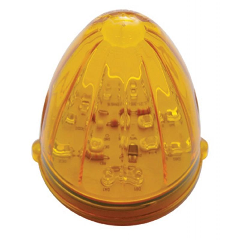 One Amber LED Replacement Lens for Torpedo Style Cab Marker Lights