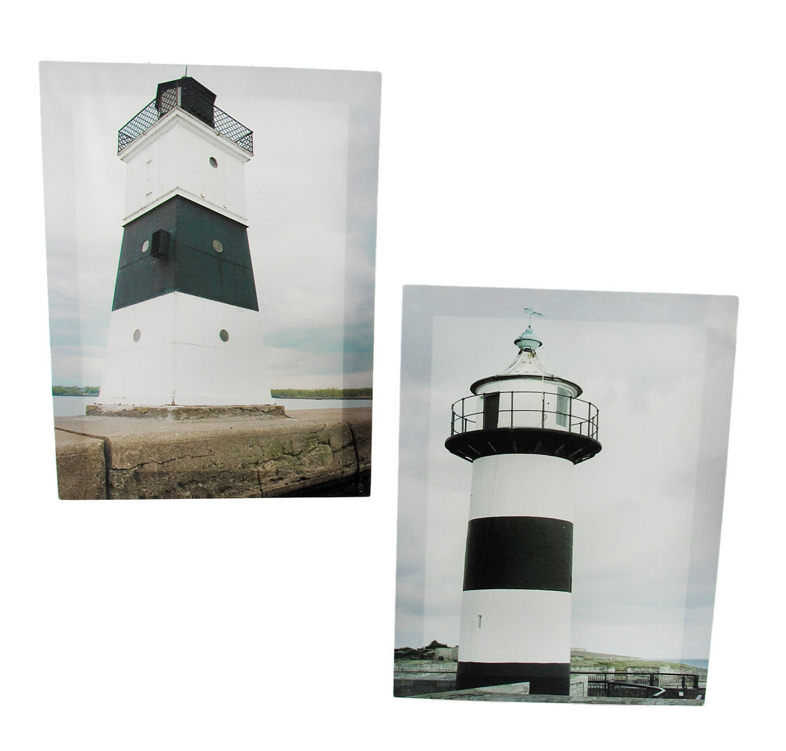 Pair of Scenic Lighthouse Printed Canvas Wall Art