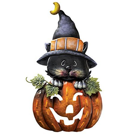 Pumpkin & Kitty Metal Halloween Door - Halloween Classroom Door