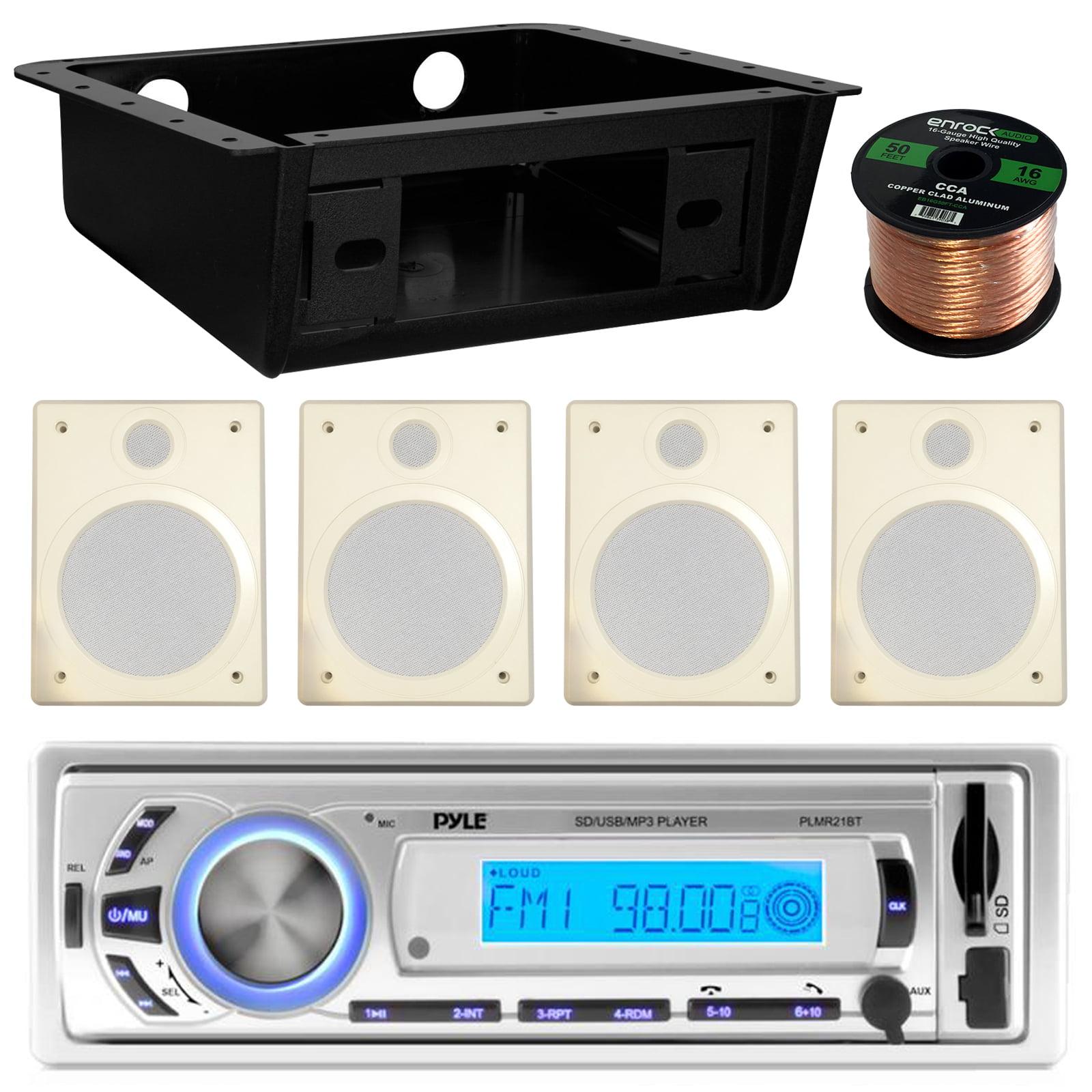 Pyle PLMR21BT USB/SD/MP3 Bluetooth Stereo Receiver Bundle...