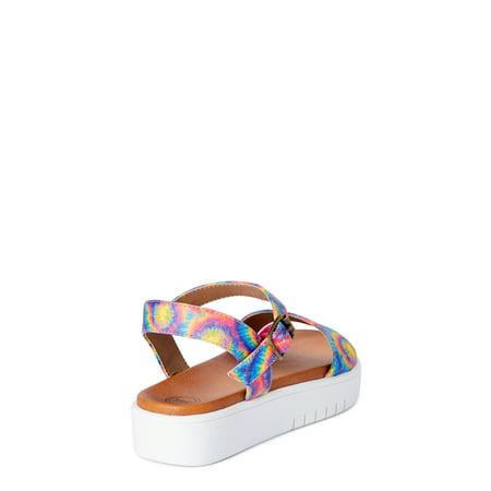 Wonder Nation Tie Dye Flatform Sandal (Little Girls & Big Girls)