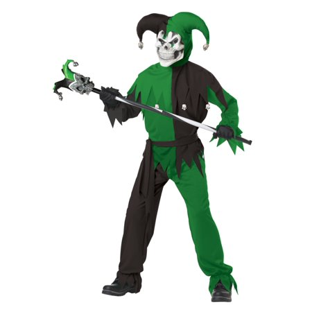 Boys Evil Jester Halloween Costume Shirt, Pants, Sash, Headpiece, - Halloween Costumes Evil Jester