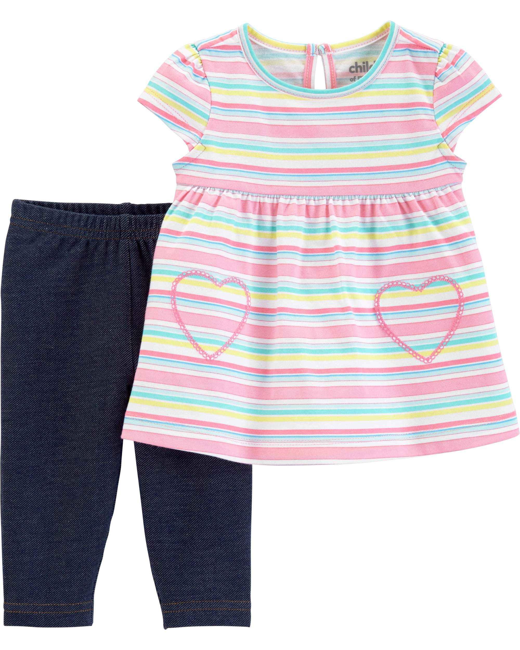 Top and Pants Outfit, 2 Piece Set (Baby Girls)