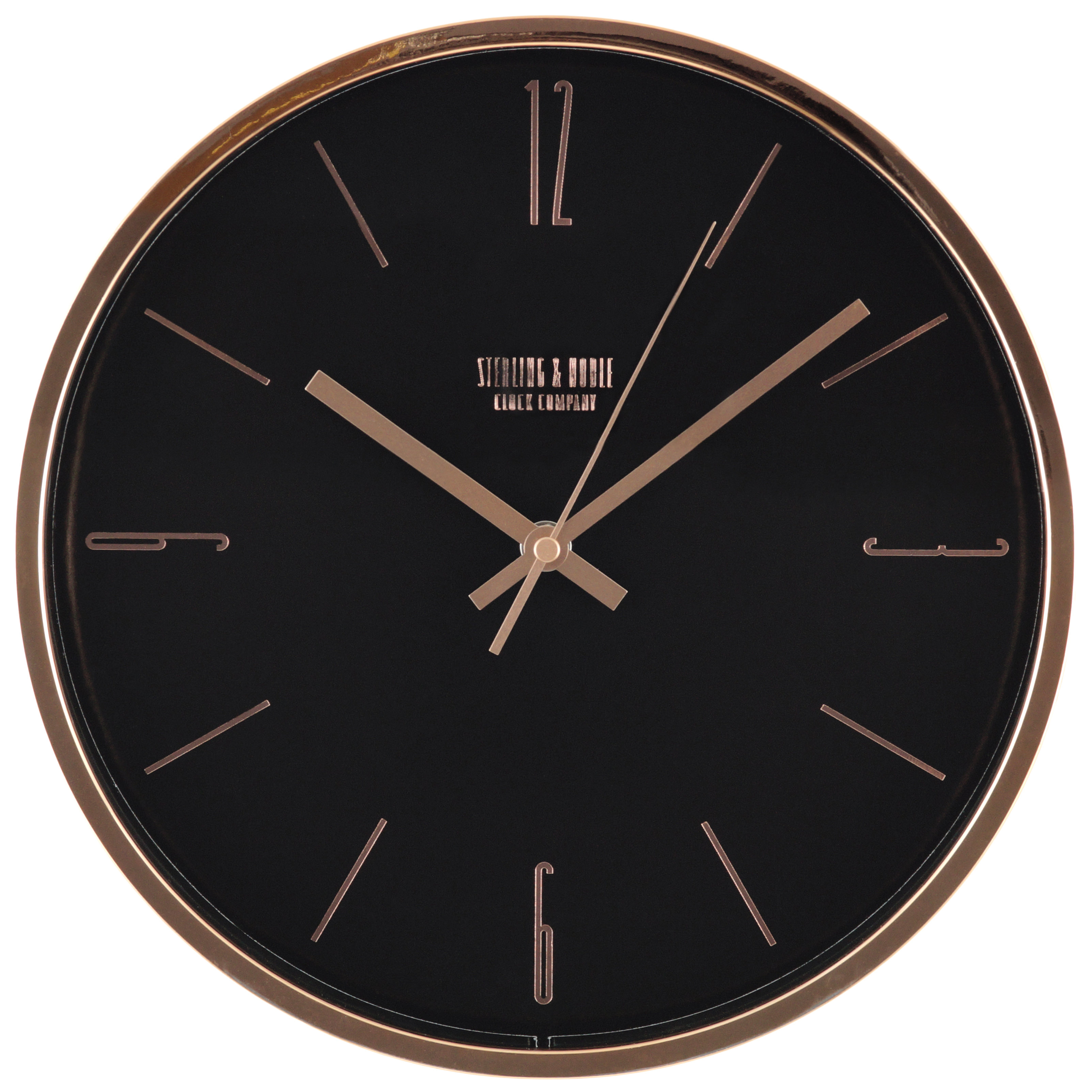 "Mainstays 11.5"" Rose Gold Wall Clock"