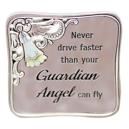 Never Drive Faster Than Your Guardian Angel Can Fly Visor Clip - By Ganz