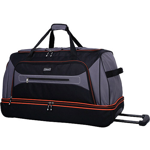 "Coleman Adventure 30"" Rolling Drop Bottom Duffel, Black"