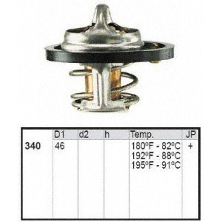 Motorad 340-195 Thermostat Product Description:Includes seal. 195F. Thermostat only. OEM Recommended TempThermostatThermostat, Coolant Thermostat, OE Thermostat, Good Thermostat, Thermostat w/ seal, Engine Coolant Thermostat, Engine Thermostat, Cooling Thermostat, Cooling System Thermostat.Thermostat W/ Seal.Therm, Stat.Engine Coolant Thermostat -