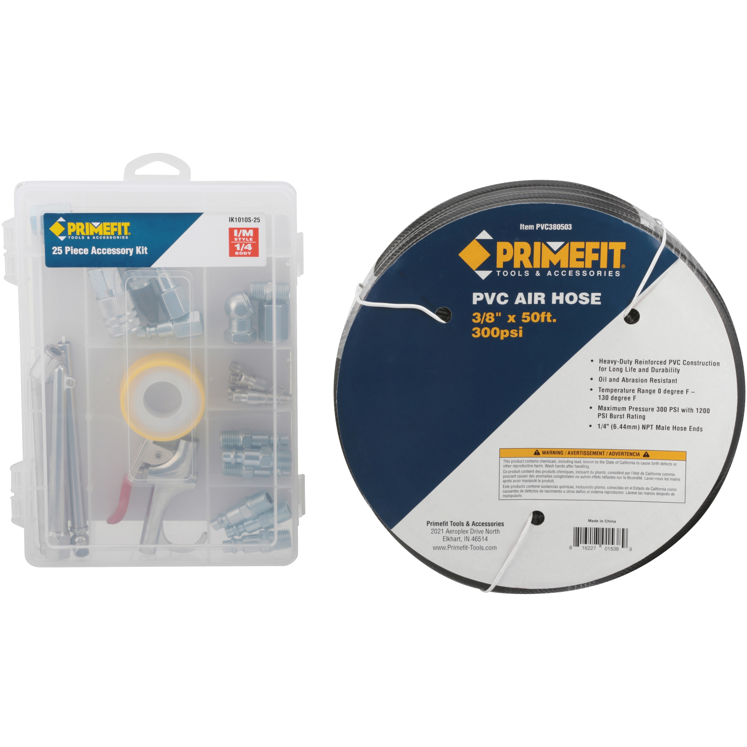 Primefit® 50 ft. Air Hose with Accessory Kit 26 pc Box