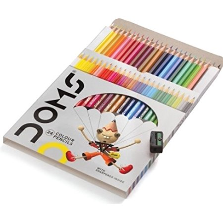 Colored Pencils Soft Core Color Pencil Set for Kids Adult Coloring Books Drawing, Writing Sketching (24 Count)