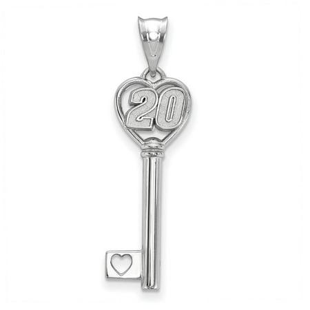 - Roy Rose Jewelry Sterling Silver LogoArt NASCAR Heart Key 1'' Pendant Driver # 20