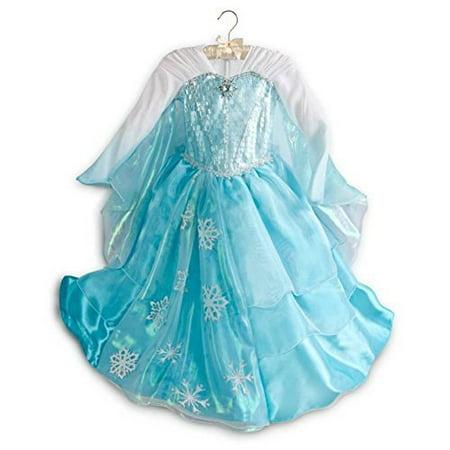 Disney Store Frozen Deluxe Elsa Costume Dress - Size 7/8 - Disney Elsa Costume
