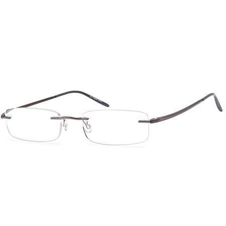 546ff82cd7fe ALTEC VISION Minimalist Rimless Reading Glasses for Men and Women in  Stainless Steel and TR90 Temple Arms for Maximum Comfort and Lightweight  Fit +1.25 ...