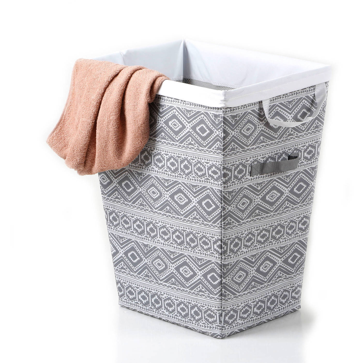 Mainstays Hamper with Removable Liner, Gray