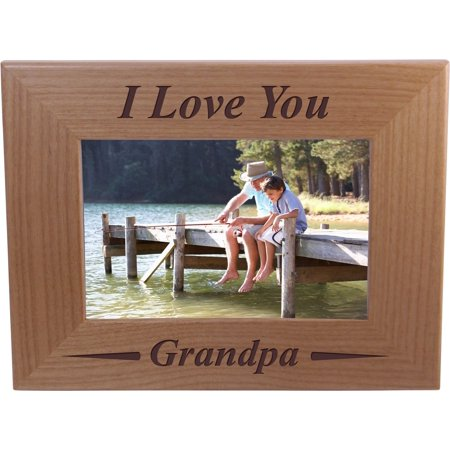 I Love You Grandpa 4x6 Inch Wood Picture Frame Great Gift For