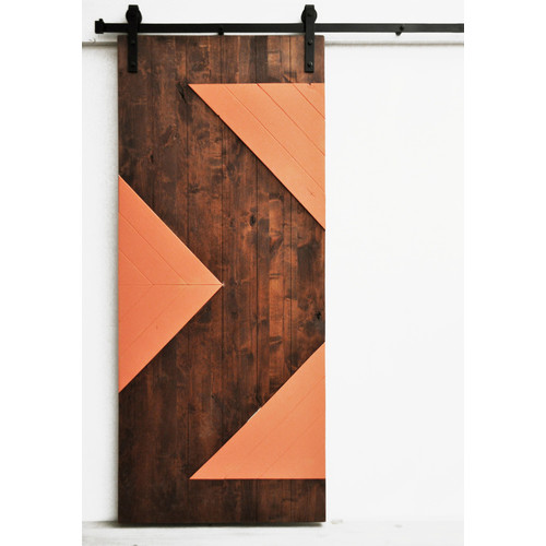 Dogberry Collections Zig Zag Wood 1 Panel Interior Barn Door