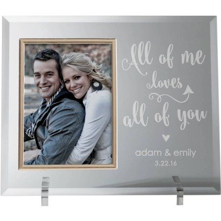 All Of Me Loves All Of You Glass Keepsake Photo (All Glass Frames)