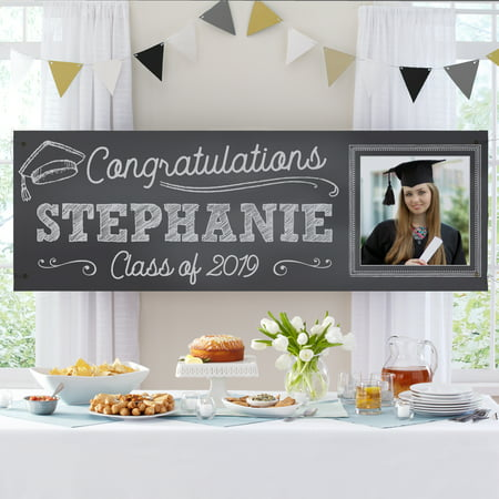 Hawaiian Party Personalized Banner - Personalized Class Act Graduation Photo Banner