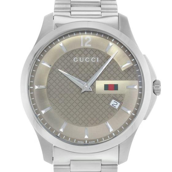 8aa897513c6 Gucci - G-Timeless 126.3 YA126310 Stainless Steel Quartz Men s Watch ...