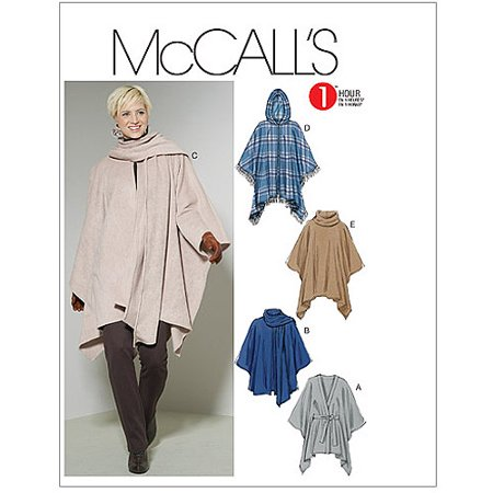 McCall's Pattern Misses' Ponchos and Belt, Y (XS, S, M)