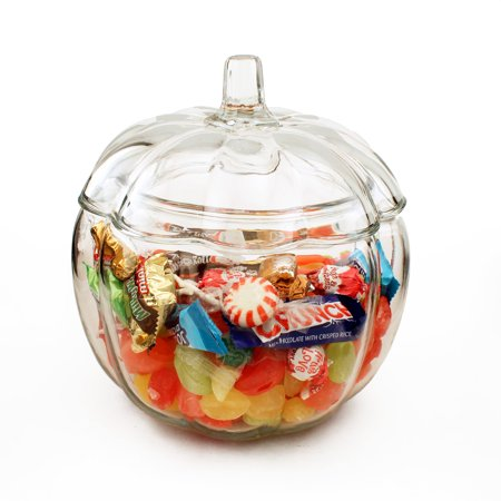 Anchor Hocking 2 Liter Glass Pumpkin Candy Jar