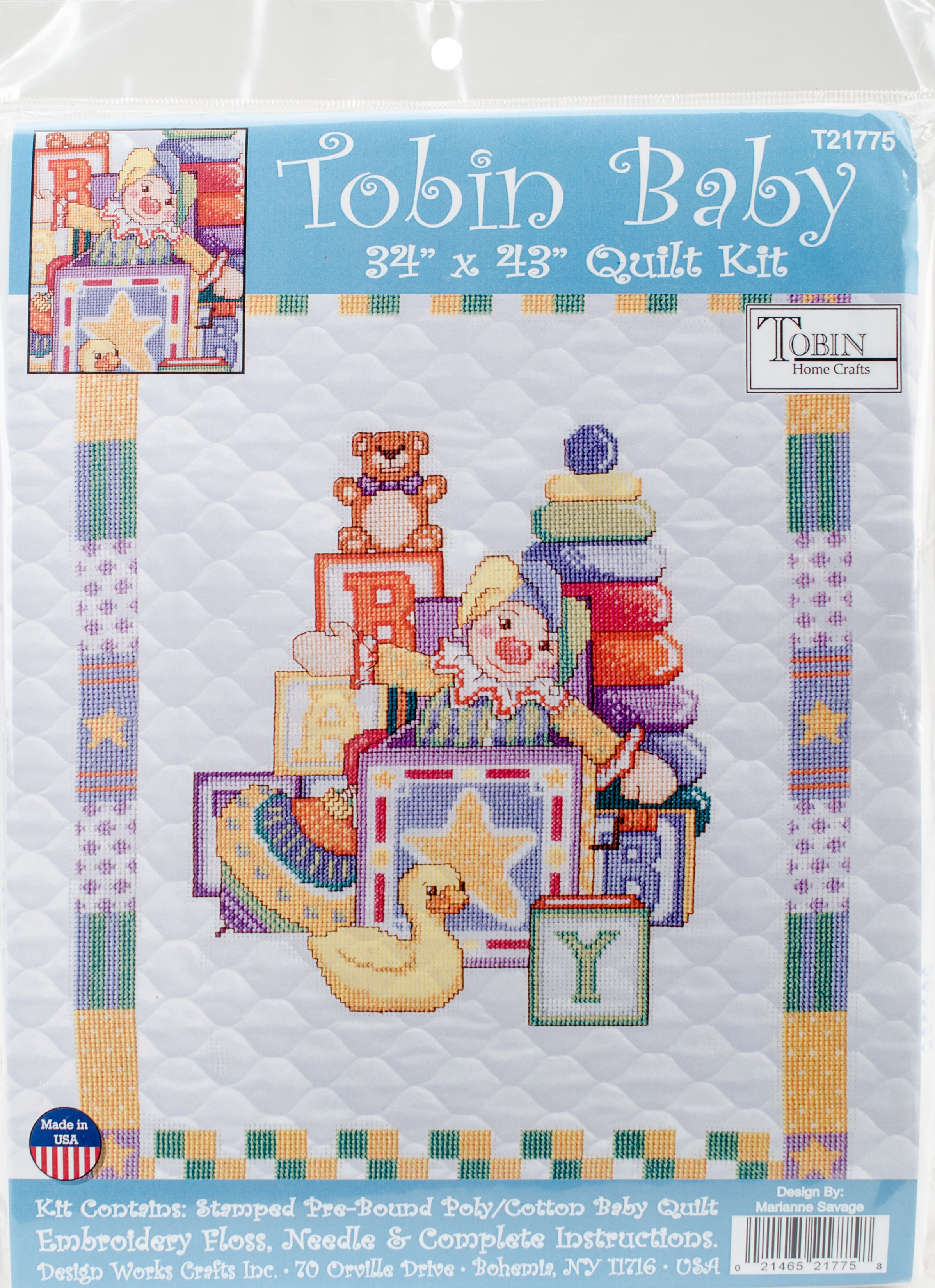 """Embroidery Kit for Babies with Pattern /""""Dreaming Angel/"""""""