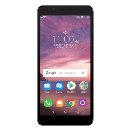 AT&T PREPAID Alcatel idealXTRA 16GB Prepaid Smartphone, Black – Get UNLIMITED DATA. Details below.