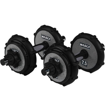 marcy 40 lb dumbbell set with rubber rims walmart com