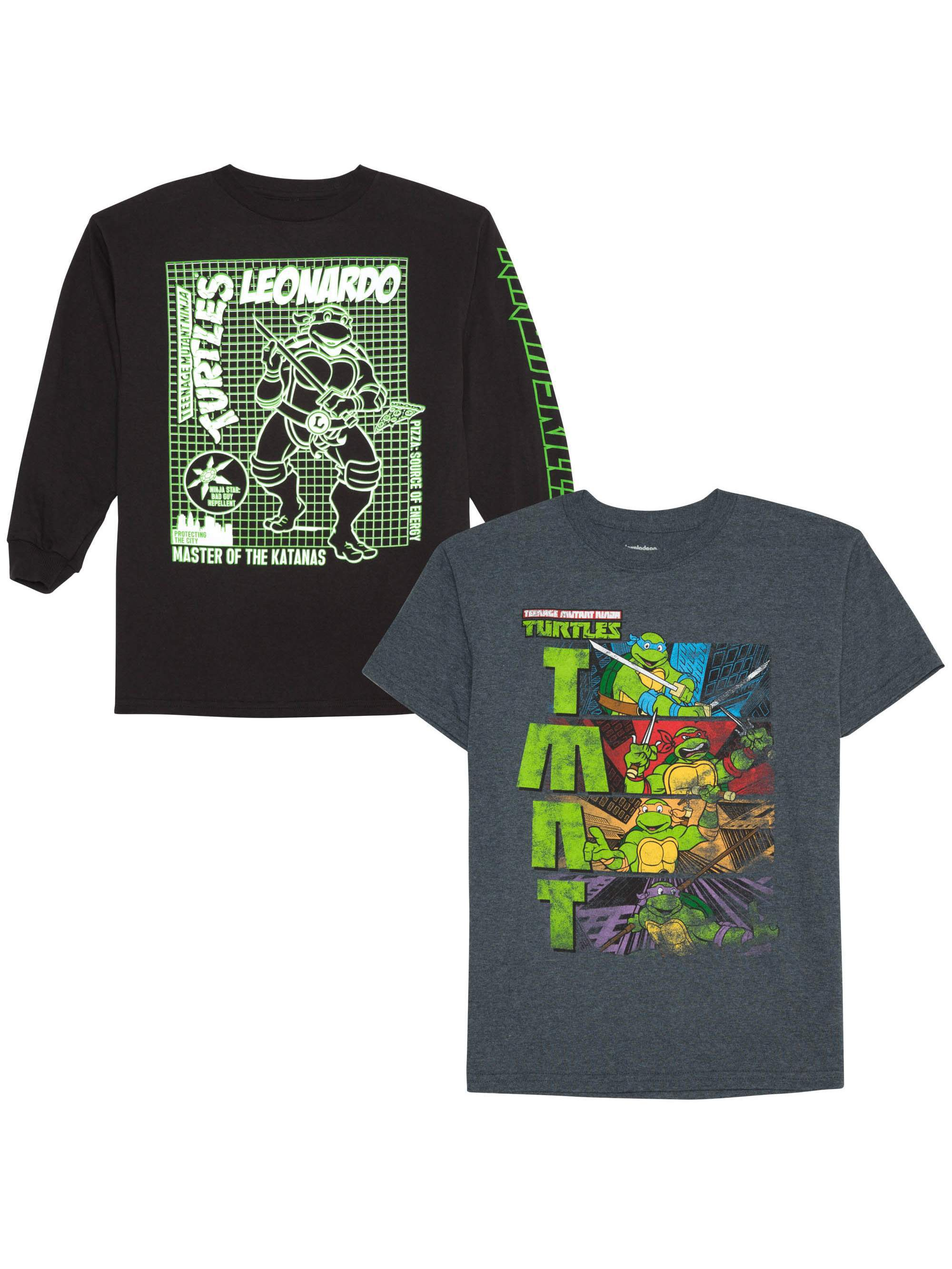 Teenage Mutant Ninja Turtles Long And Short Sleeve Graphic Shirt Two Pack (Little Boys & Big Boys)