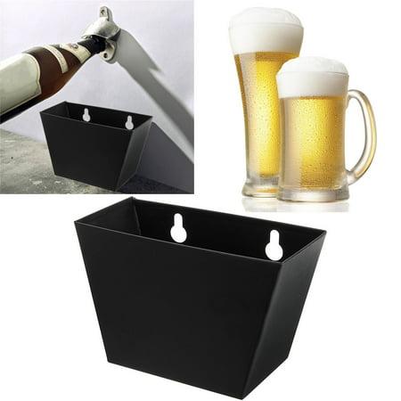 Mounted Bottle Opener - Bar Wall Mount Beer Bottle Opener Cap Stainless Steel Box Catcher With Screws