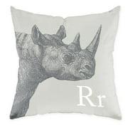 Checkerboard, Ltd Rhino Throw Pillow