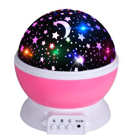 Night Light Projector, 360 Degree Rotation Kids Projector Night Light with 8 Multicolor, Starry Light Best Presents for Kids Nursery Bedroom - (Best Projector For Bright Room)