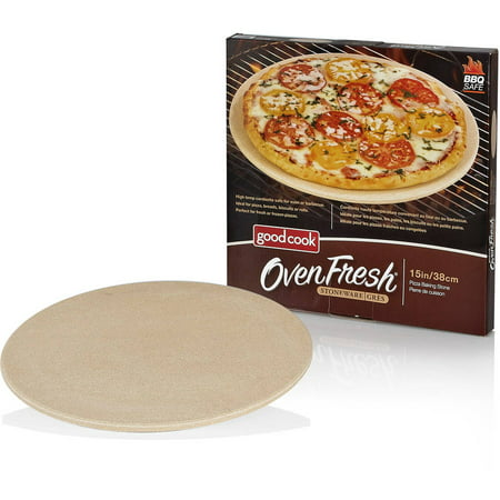 Good Cook OvenFresh Stoneware BBQ Grill and Oven Pizza Stone, 14.75 ...